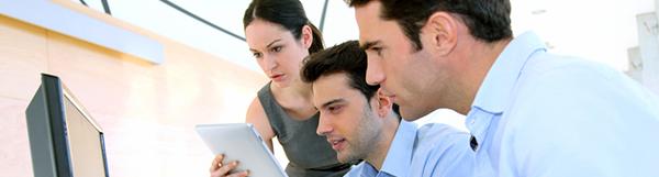 Sales people meeting in office